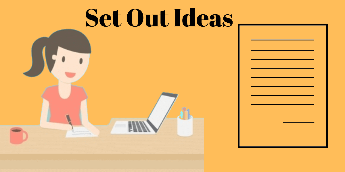 set out ideas in hindi